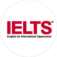 IELTS logo: International English Language Testing System